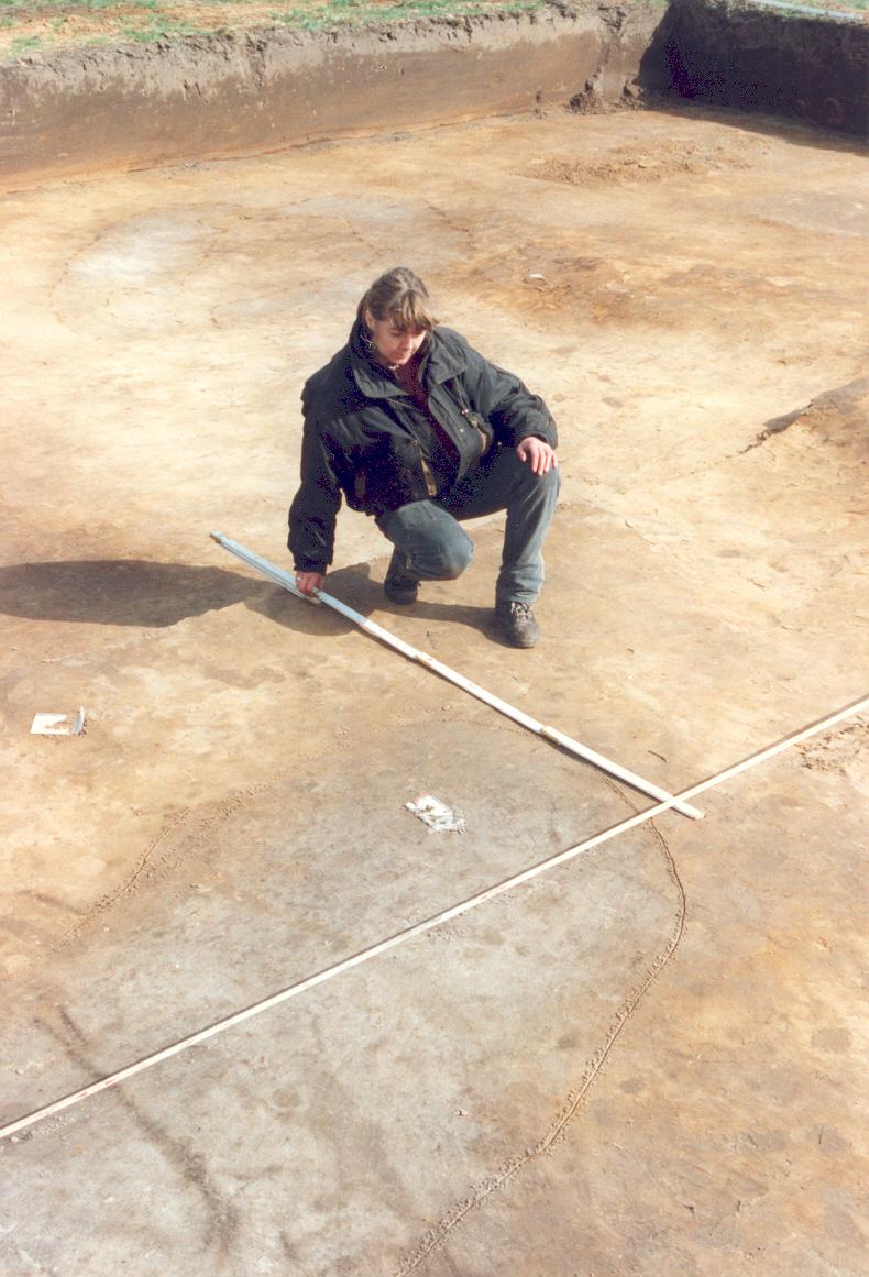 Het inmeten van archeologische sporen