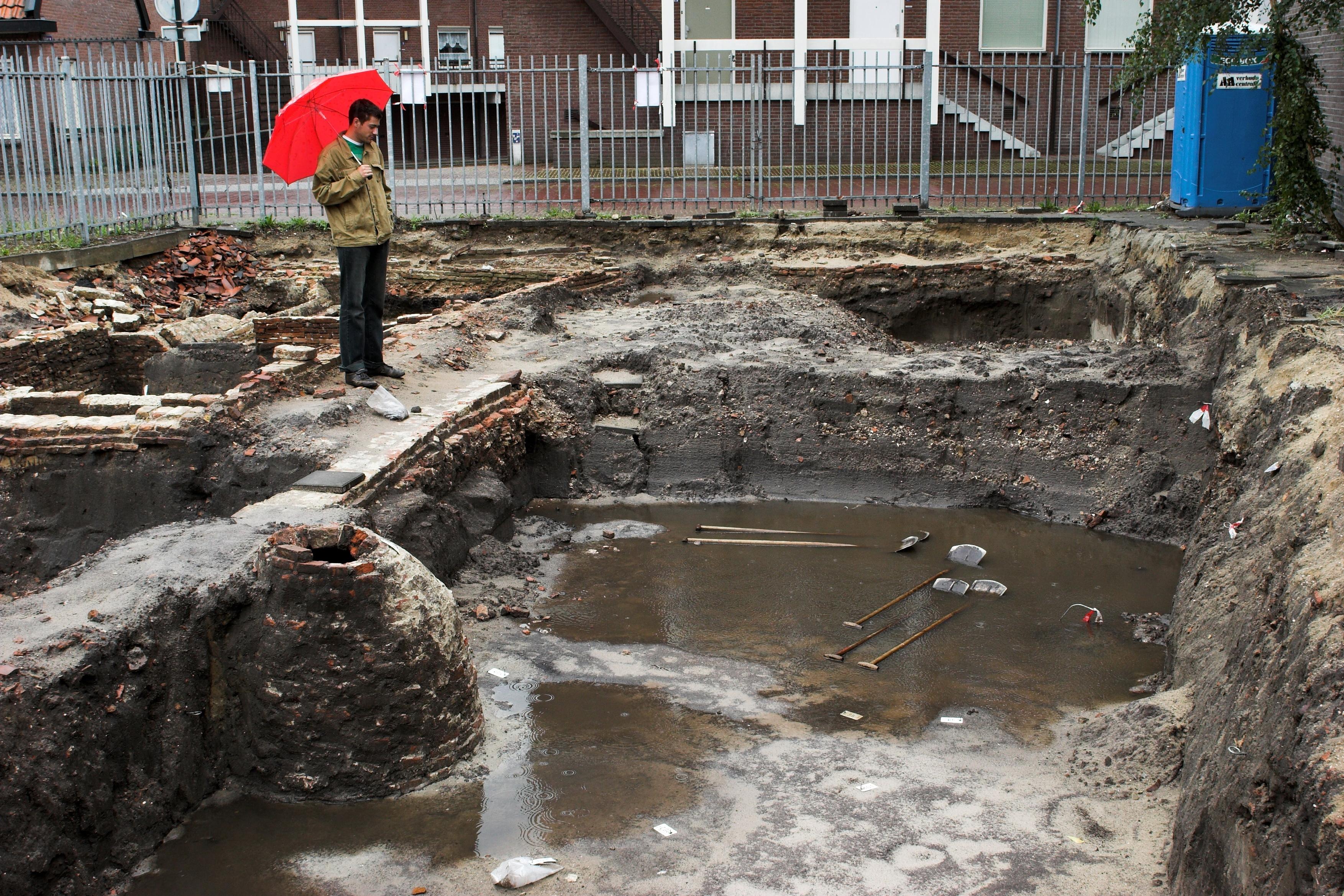 Opgraving Achter de Kamp - Het effect van heftige regenbuien