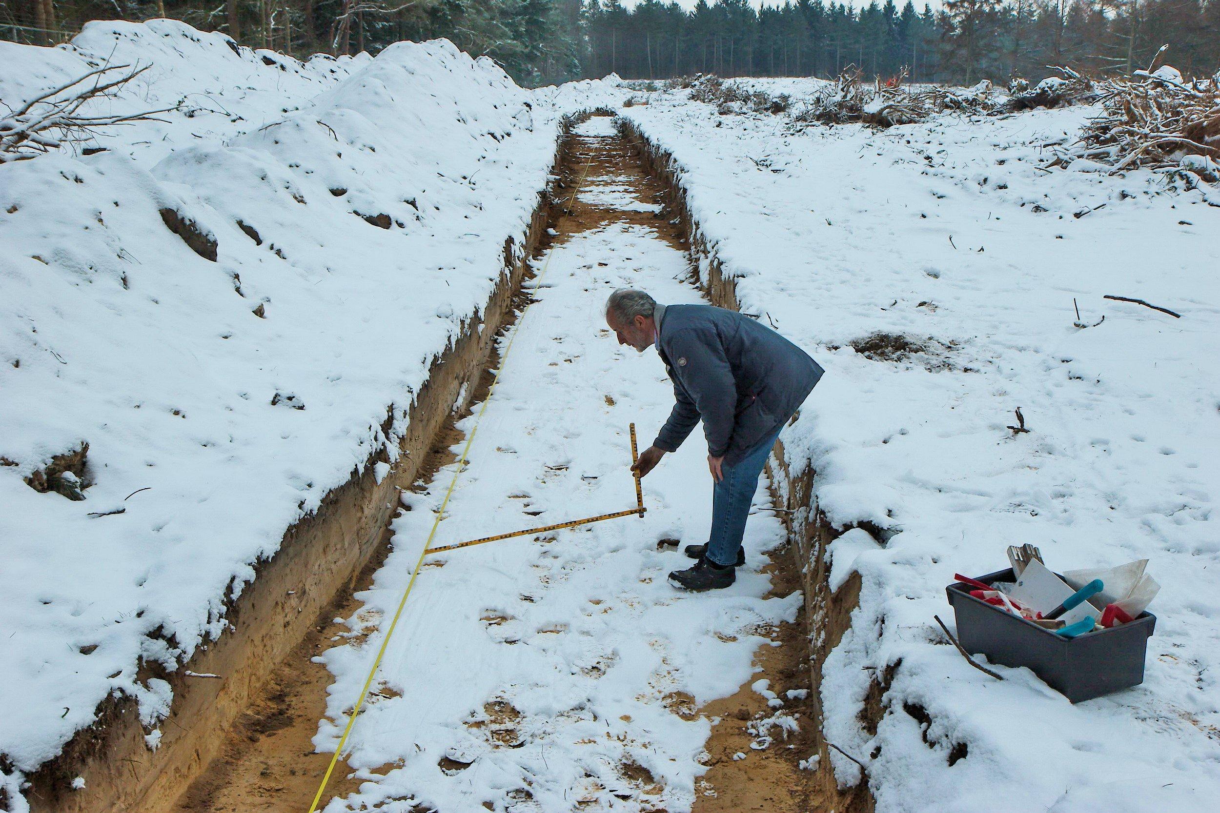 Opgraving Rusthof - Meer sneeuw dan sporen