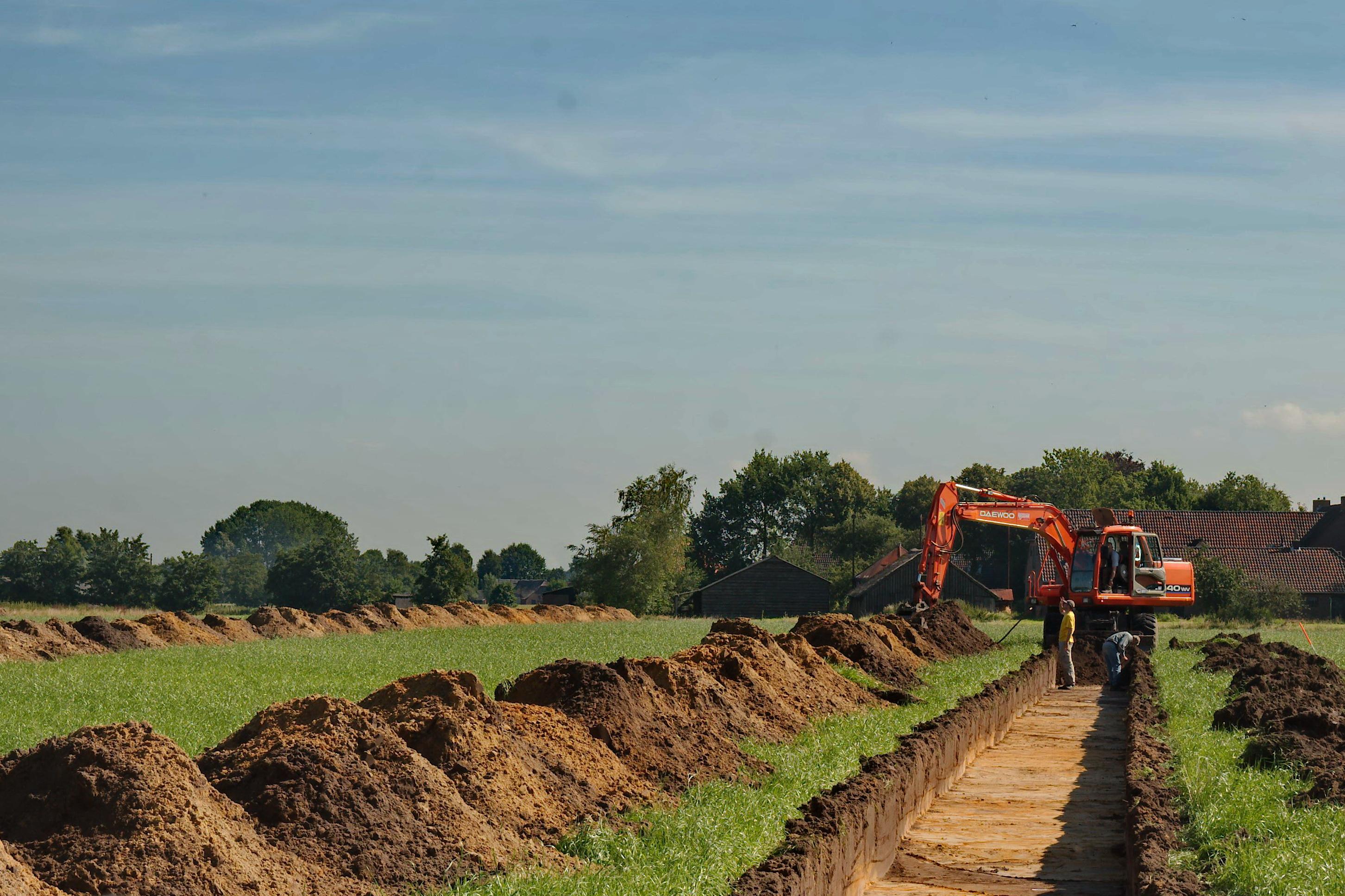 Opgraving Schammer, Leusden - Aanleg van proefsleuven