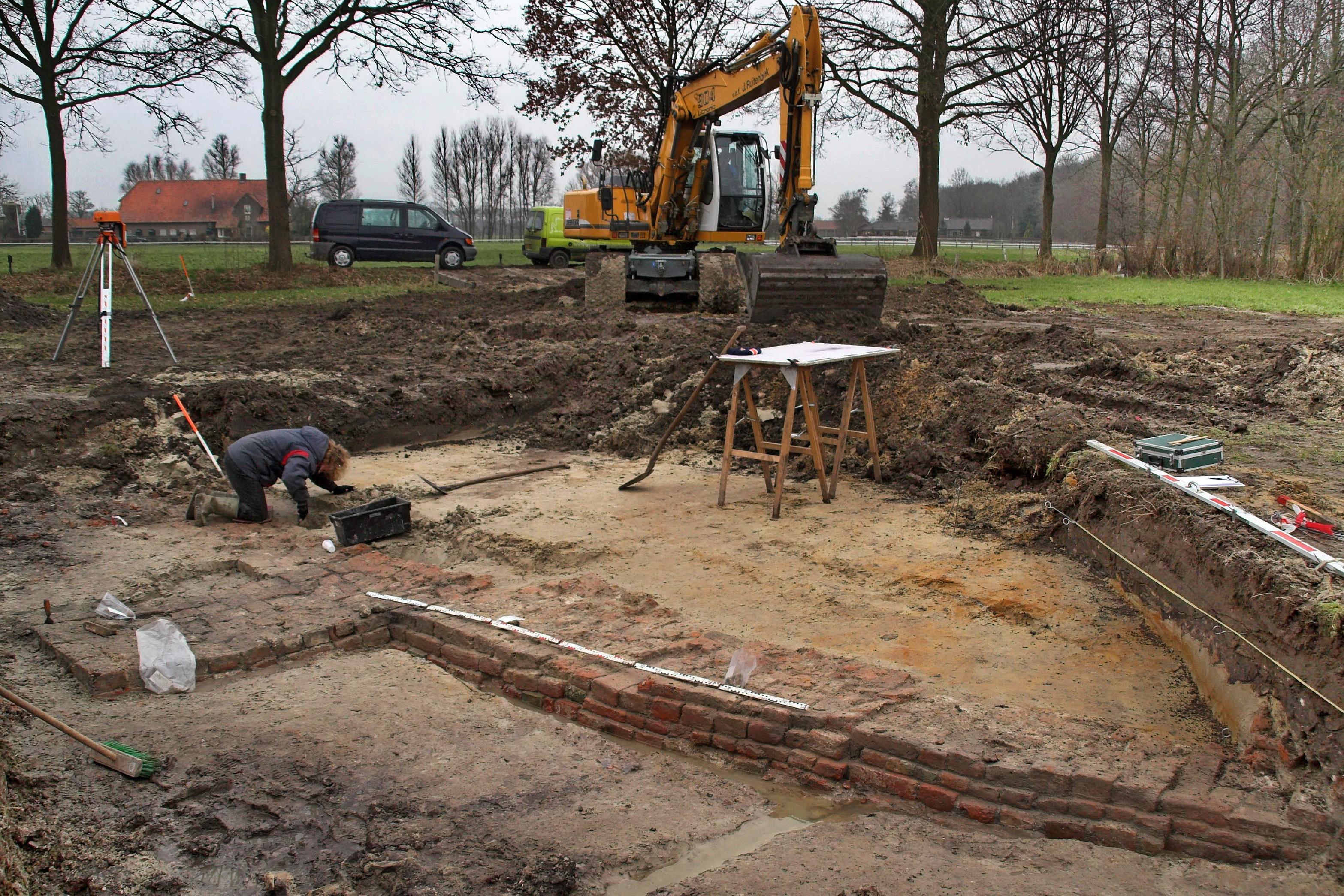 Opgraving Stoutenburg - De funderingen van het kasteel